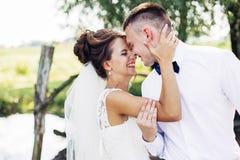 Die schöne Braut und der Bräutigam Lizenzfreies Stockfoto