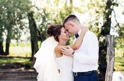 Die schöne Braut und der Bräutigam Stockbild