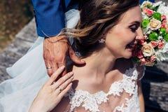 Die schöne Braut und der Bräutigam Lizenzfreies Stockbild