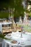Die schöne Gartengaststätte Stockbild