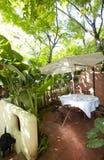 Die schöne Gartengaststätte Lizenzfreies Stockbild