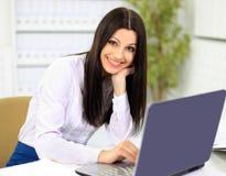 Die schöne Geschäftsfrau Lizenzfreies Stockfoto