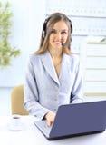 Die schöne Geschäftsfrau mit Stockfotos