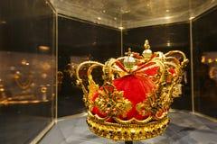 Die schöne Goldkronenanzeige im berühmten Rosenborg-Schlitz stockfoto
