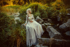 Die schöne Gräfin stockfotografie