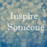 Die schöne inspirierend Motivierung zitiert auf bokeh Licht abstrac Stockfotografie