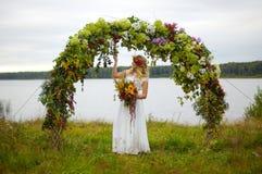 Die schöne junge Braut Stockbild