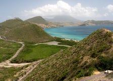 Die schöne Küstenlinie von Str. Kitts Stockfotografie