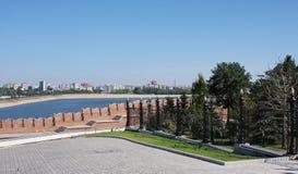 Die schöne Landschaft ist in der Stadt Kasan lizenzfreie stockfotografie