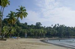 Die schöne Landschaft schützte den Andaman-Seehafen Blair India lizenzfreies stockbild