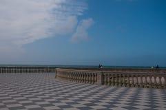 Die schöne mascagni Terrasse in Livorno, Italien Lizenzfreie Stockfotografie