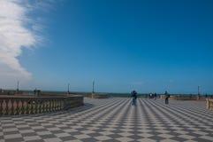 Die schöne mascagni Terrasse in Livorno, Italien Lizenzfreie Stockbilder