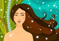Die schöne Meerjungfrau Lizenzfreies Stockbild