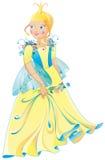 Die schöne Prinzessin in einem wundervollen Kleid Lizenzfreies Stockbild