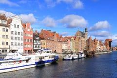 Die schöne Stadt alter Stadt Gdansks, Polen stockbild