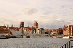 Die schöne Stadt alter Stadt Gdansks, Polen lizenzfreie stockfotografie