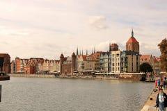 Die schöne Stadt alter Stadt Gdansks, Polen stockfotografie