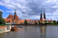 Die schöne Stadt von Breslau, Polen lizenzfreie stockfotografie