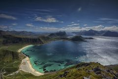 Die schönen Strände in Lofoten Stockfotografie