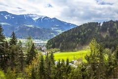Die schönen szenischen Alpen des Europas Lizenzfreies Stockfoto