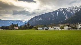 Die schönen szenischen Alpen des Europas Lizenzfreie Stockfotos