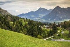 Die schönen szenischen Alpen des Europas Stockbilder