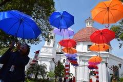 Die Schönheit der alten Stadt von Semarang Stockfotos
