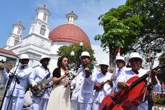 Die Schönheit der alten Stadt von Semarang Stockfotografie