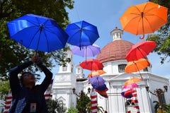 Die Schönheit der alten Stadt von Semarang Stockbilder