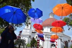 Die Schönheit der alten Stadt von Semarang Stockbild