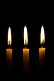 Die Schönheit des Kerzenlichtes unter der Schwärzung Lizenzfreies Stockbild
