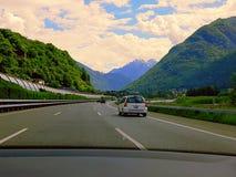 Die schönsten Berge in der Schweiz stockbild