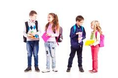 Die Schüler sind zur Schule bereit Stockbilder