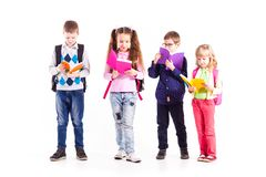 Die Schüler sind zur Schule bereit Lizenzfreies Stockfoto
