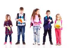 Die Schüler sind zur Schule bereit Lizenzfreie Stockfotos