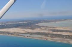 Die sch?ne nat?rliche ?berblicklandschaft Sumpfgebiet-Limassols Salt Lake in Zypern stockfotografie