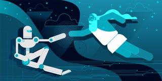 Die Schaffung des Roboters Adam lizenzfreie abbildung