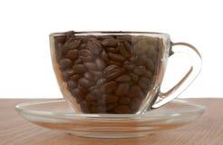 Die Schale von coffe Körnern Stockfotografie