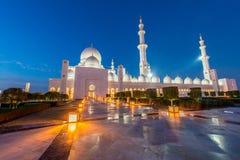 Die Scheich zayed Moschee in abu dabi Lizenzfreie Stockfotografie