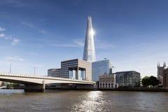 Die Scherbe auf London-Skylinen Stockbilder