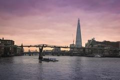 Die Scherbelondon-Stadt-Skyline Stockfotos