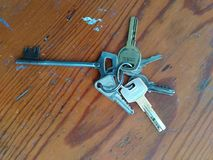 Die Schlüssel Stockbild