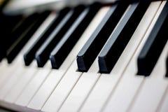 Die Schlüssel des Klaviers stockfoto