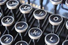 Die Schlüssel zum Schreiben stockfoto