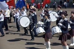 Die Schlagzeuger auf der Parade Stockfotos