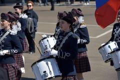 Die Schlagzeuger auf der Parade Lizenzfreies Stockfoto