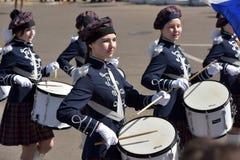 Die Schlagzeuger auf der Parade Lizenzfreie Stockfotografie