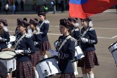 Die Schlagzeuger auf der Parade Stockbilder