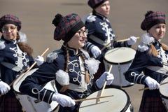 Die Schlagzeuger auf der Parade Lizenzfreie Stockfotos