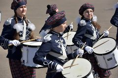 Die Schlagzeuger auf der Parade Stockbild
